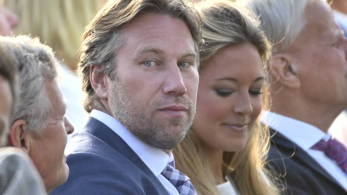 Peter Forsberg och sambon Nicole Nordin. Foto: VILHELM STOKSTAD/TT / TT NYHETSBYRÅN