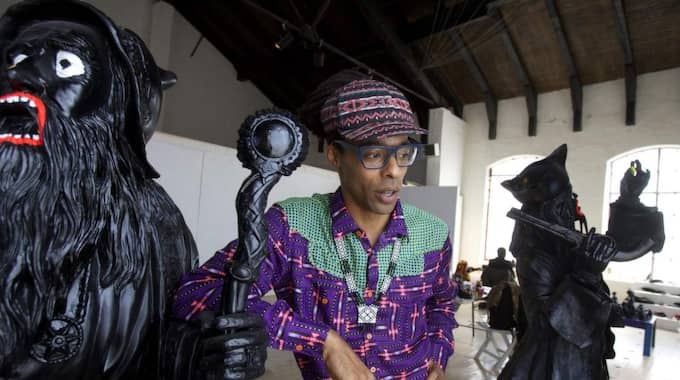 """Makode Linde fick inte använda namnet på sin kommande utställning, """"Negerkungens återkomst"""", som han ville. Foto: Peo Nilsson"""
