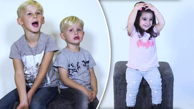 Barnen svarar på vad kärlek är. Foto: Unicef