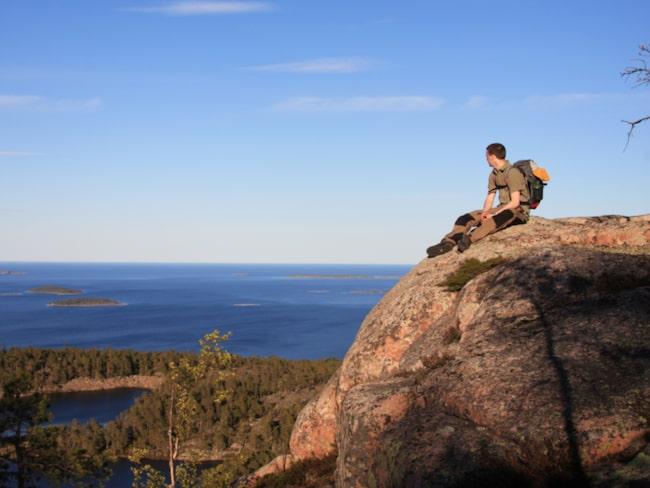 <span>Slåttdalsberget bjuder också på vacker utsikt.</span>