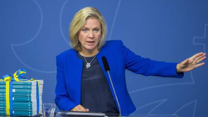 """""""Det var ett bra och konstruktivt möte"""", säger Magdalena Andersson. Foto: Pelle T Nilsson"""