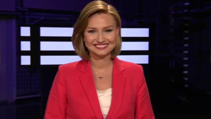 Ebba Busch Thor under debatten. Foto: SVT