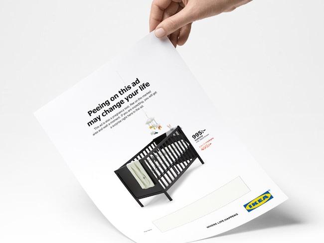 Ikeas nya annons – som också är ett graviditetstest.