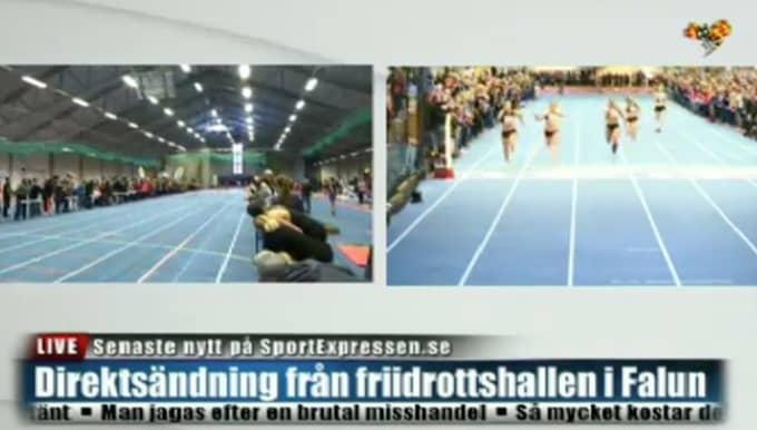 Expressen TV sände loppet live Foto: Expressen TV