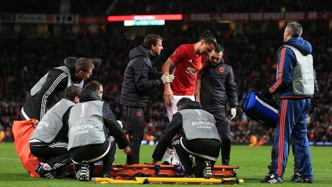 Det är cirka två veckor sedan Ibrahimovic skadade sig i en Europa League-match. Foto: SIMON STACPOOLE