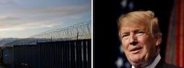 Donald Trump kommer med  nyheter om Mexiko-muren