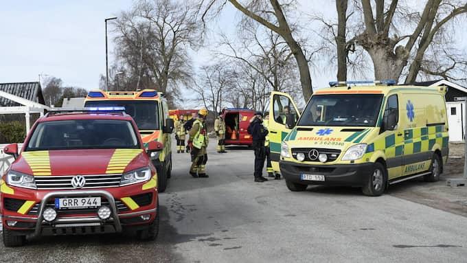 Kroppen upptäcktes av allmäneten och ett stort räddningspådrag inleddes. Foto: Anders Grönlund