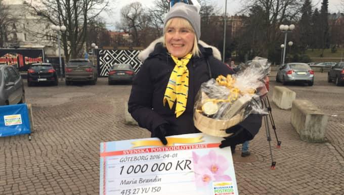 Maria Brandin vann en miljon kronor på sitt postnummer. Foto: PRIVAT BILD