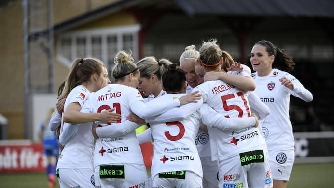 FC Rosengård smattrade in mål under torsdagens match Foto: JOHAN NILSSON/TT / TT NYHETSBYRÅN