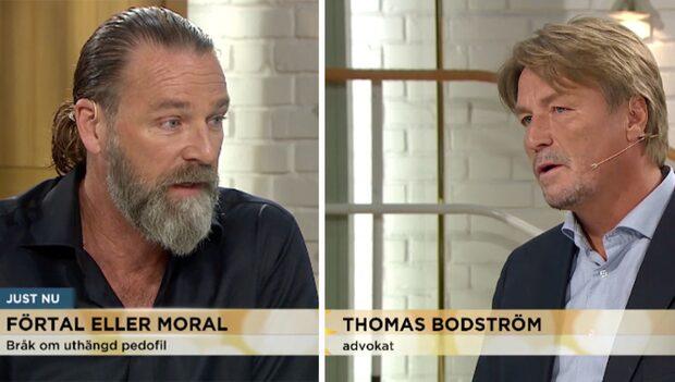 Patrik Sjöberg kritiseras av stjärnadvokaten i Nyhetsmorgon