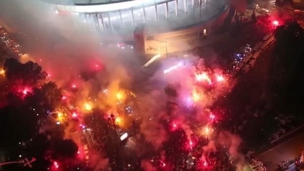 """Så är turkiska fotbollen: """"Tifon och bengaler"""""""