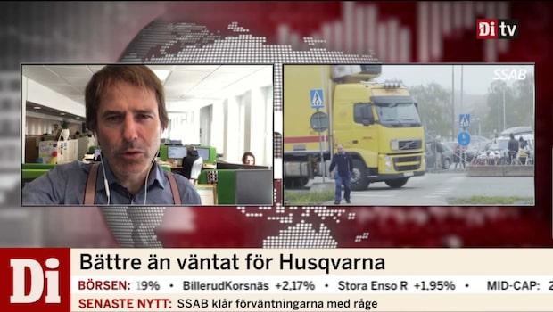 """Hemberg: """"Husqvarna har tappat mot Stockholmsbörsen"""""""