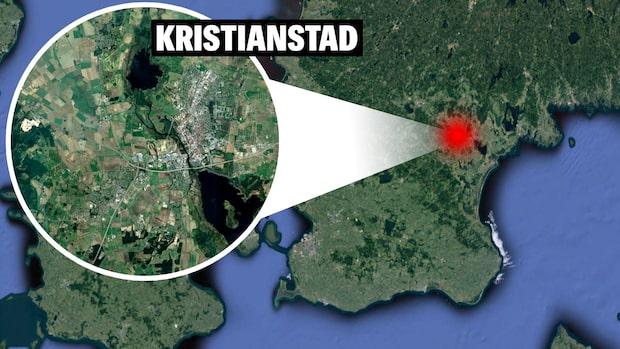 Explosion vid butik i Kristianstad