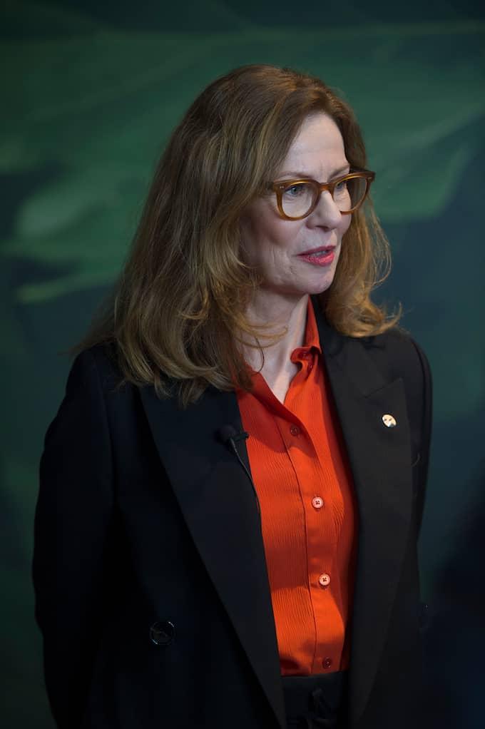 Swedbanks vd Birgitte Bonnesen planerar inte något köpförbud mot kryptovalutor för bankens kunder. Foto: HOSSEIN SALMANZADEH/TT / TT NYHETSBYRÅN