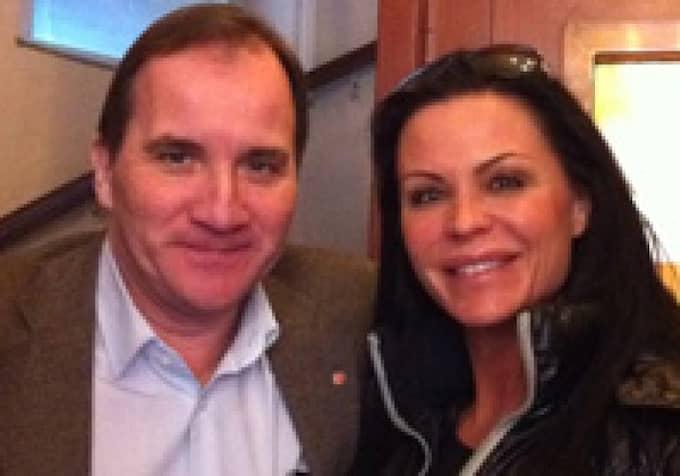 Socialdemokraternas nye partiledare Stefan Löfven och bloggerskan Linda Thelenius (före detta Rosing) bor i samma trappuppgång. Foto: Privat