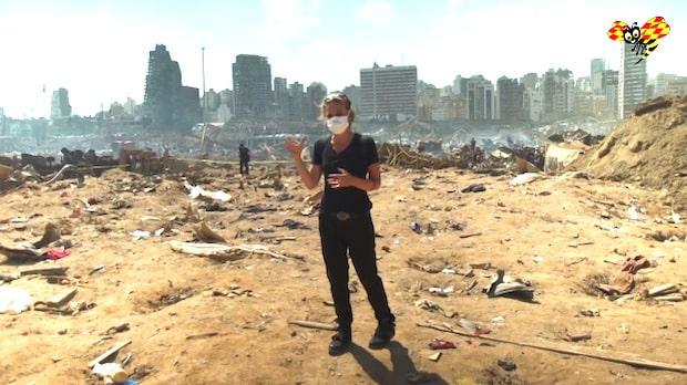Efter explosionen i Beiruts hamn – se bilderna från platsen