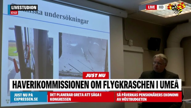 Flygkraschen i Umeå: Haverikommissionen presenterade rapport