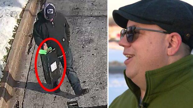Han hittade låda med 257 000 kronor mitt på gatan