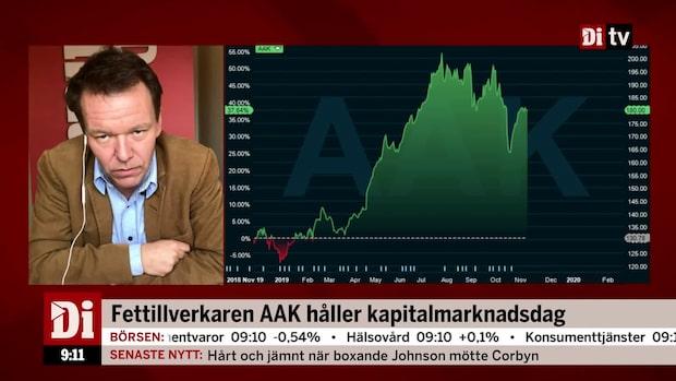 AAK: Ambitionen är att öka rörelseresultatet 10 procent per år