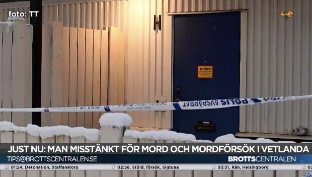 En kvinna hittades mördad och en skadad i Vetlanda
