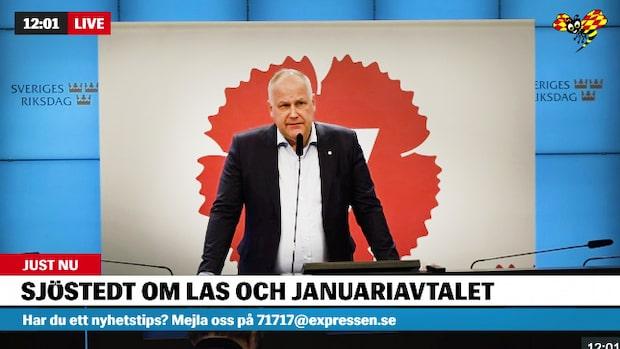 Jonas Sjöstedt (V): Vi kommer inte att vika oss