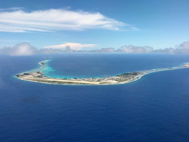 Atoll i Marshallöarna, världens näst minst besökta land.