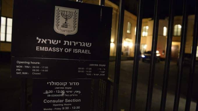 Israel kallar hem ambassadören från ambassaden i Stockholm.