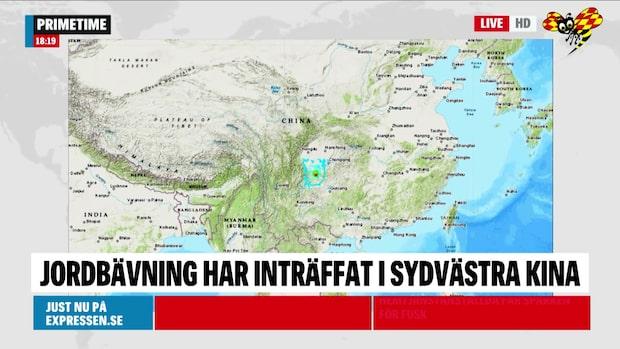 Jordbävning i sydvästra Kina