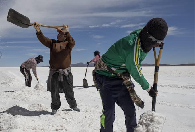 Colchani, Bolivia Landskapet ser ut som snö men är en av världens största salt reserver. Foto: NICLAS HAMMARSTRÖM
