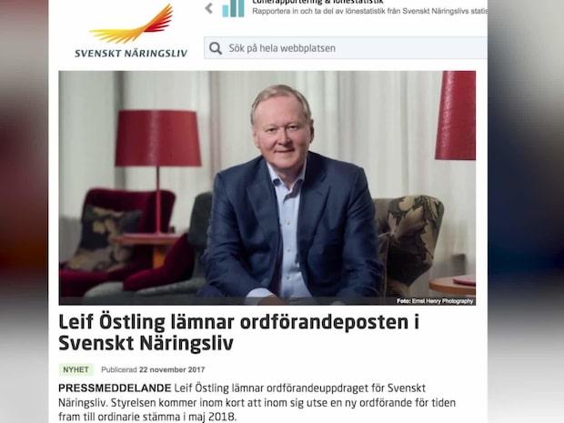 Leif Östling avgår efter skatteskandal