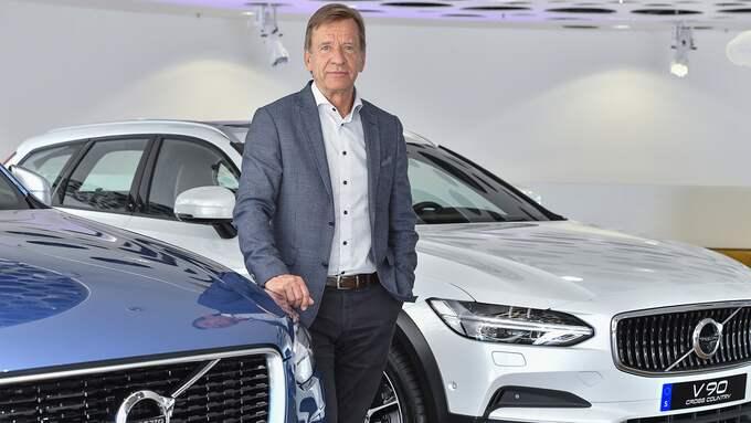 Volvos vd Håkan Samuelsson tänker sätta elmotorer i alla bilar. Foto: JONAS EKSTRÖMER/TT / TT NYHETSBYRÅN