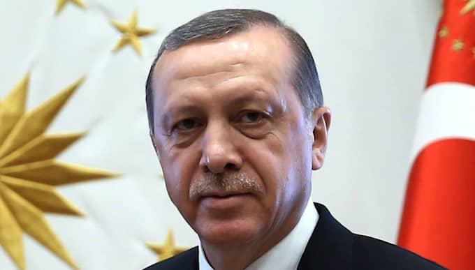 Turkiets president Erdogan. Foto: Yasin Bulbul / AP TT NYHETSBYRÅN