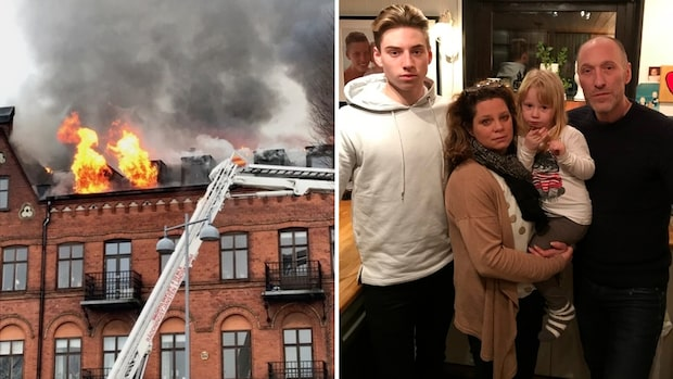 Familjen förlorade allt i storbranden i Landskrona