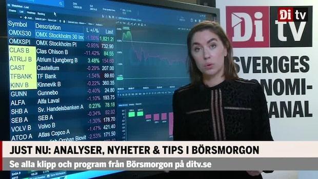 Marknadskoll: Getinge och Handelsbanken mot strömmen på röd stockholmsbörs