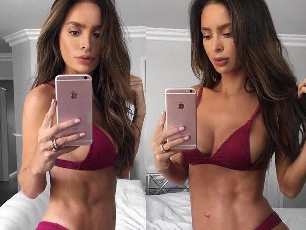 Gravida modellen Sarah chockar sina fans