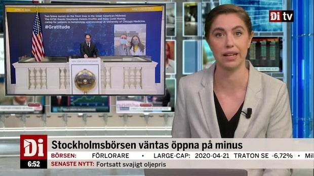 Di Morgonkoll 22 april - Historiska oljeprisraset pressar börserna
