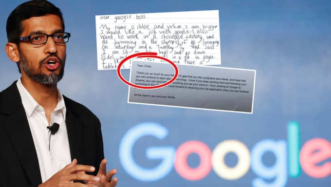 Googles vd Sundar Pichai.