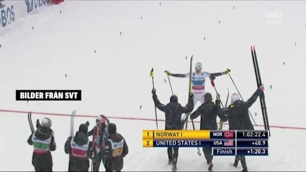 Höjdpunkter: Sverige trea i stafetten med nya laget