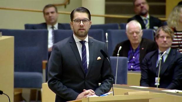 """Åkesson: """"Hur vet vi att vi kan lita på Socialdemokraterna?"""""""