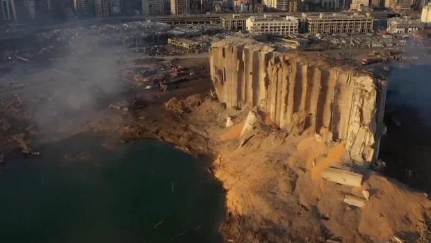 Se förödelsen dagen efter jätteexplosionen