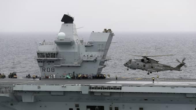 Den brittiska flottan uppges köpa stål av Sverige. Foto: BRITISH MINISTRY OF DEFENCE / HANDOUT / / EPA TT NYHETSBYRÅN
