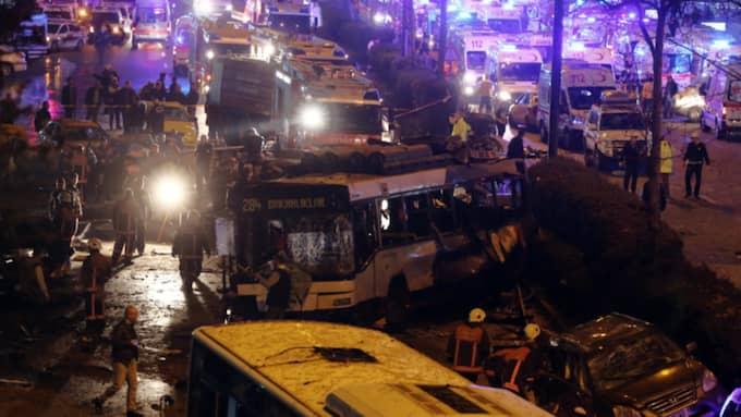 Över 30 personer omkom i attacken Foto: Ap