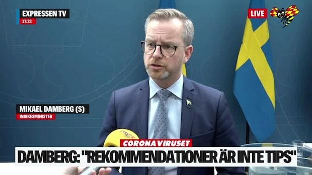 """Damberg (S): """"Inte vårt fokus nu"""""""