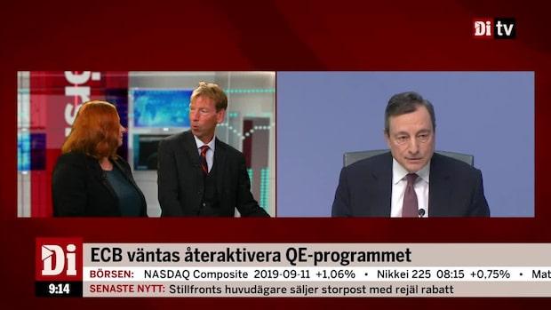 """ECB presenterar sitt räntebesked: """"Tror att de sänker räntan"""""""