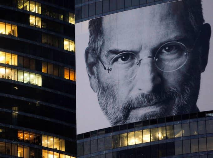 Steve Jobs i våra hjärtan, Steve Jobs på våra väggar. Foto: Denis Sinyakov