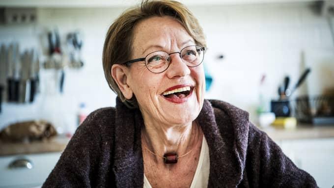 ÖVERTYGAD. Feministiskt initiativs partiledare Gudrun Schyman är övertygad om att partiet ska komma in i riksdagen i valet nästa år. Med 2,6 procent är FI nu lika stora som KD. Foto: CHRISTIAN ÖRNBERG