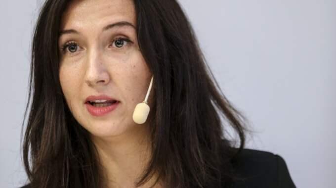 Aida Hadzialic, gymnasie- och kunskapslyftsminister (S). Foto: Sören Andersson/Tt / TT NYHETSBYRÅN