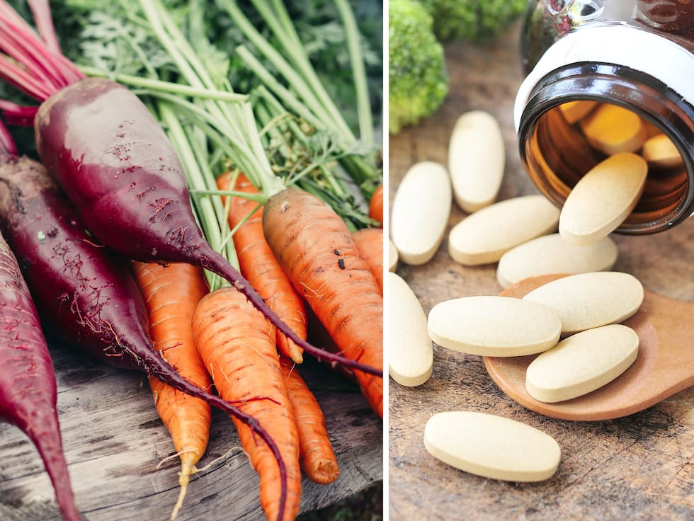 Ska jag äta grönsaker i stället för kosttillskott?