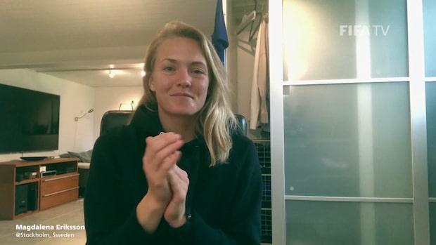 Magdalena Eriksson bland världsstjärnorna i Fifas vårdhyllning