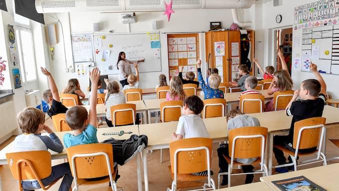 Nästan hälften av alla lärare upplever att de inte hinner med tillräckligt långa raster. Foto: Jonas Ekströmer / TT NYHETSBYRÅN